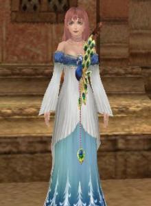 クジャクのドレス・青